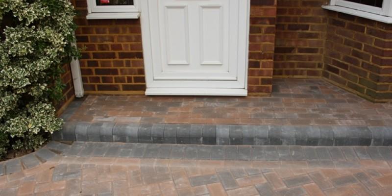 Block Paving Door Step