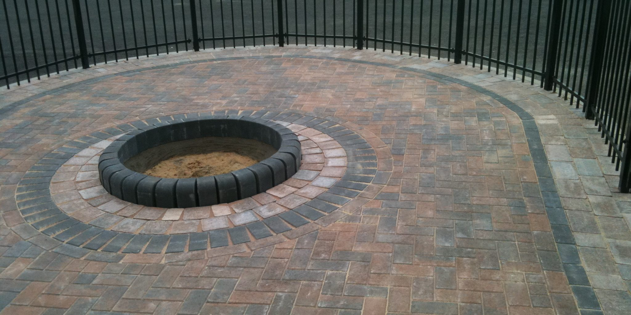 Block Paving Driveway With Railing