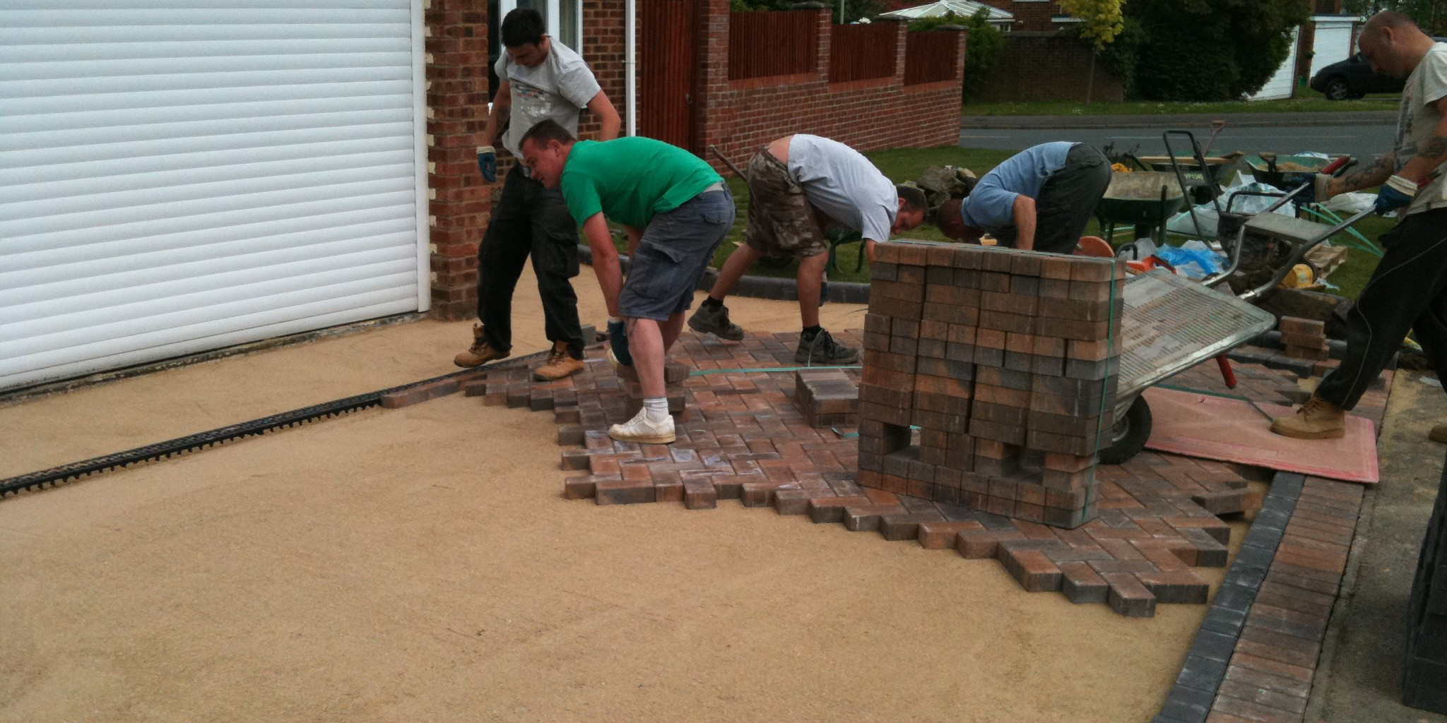 Abbey Paving Team in action