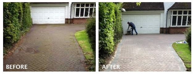 Before and After New Block Paving Driveway