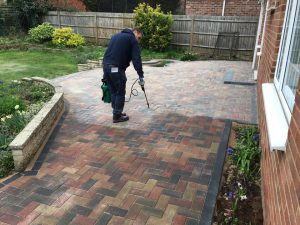 Garden Patio Block Paving Cleaning